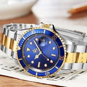 Other - Blue Presidential DayJust Gold Silver Watch Luxury